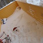 9. Снежные завалы - на крыльце