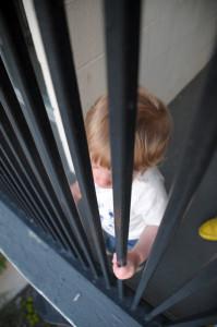 Максик на балконе гостиницы